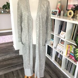 H&M long gray cardigan